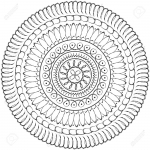 13862408-Geometric-mandala-sacred-circle-Black-and-White-Coloring-Outline-Stock-Photo