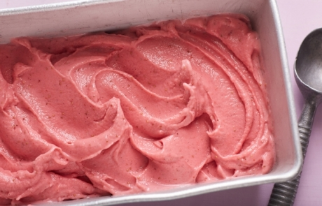 Patrick And Gina Neely's Strawberry Frozen Yogurt As seen on Food Network