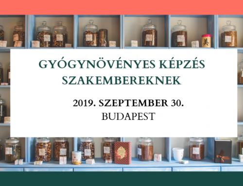 Gyógynövényes képzés szakembereknek – Budapesti állomás